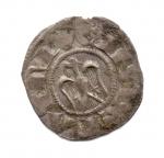 obverse: BRINDISI. Enrico VI. Con Costanza d Altavilla. 1195-1196. Denaro. Mi. BB+. NC.