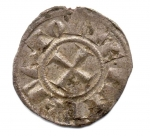 reverse: BRINDISI. Enrico VI. Con Costanza d Altavilla. 1195-1196. Denaro. Mi. BB+. NC.