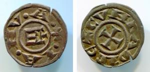 obverse: GENOVA, Repubblica (1139-1339). MI Denaro (0,95 gr. - 17 mm.). CNI 7-16. qSPL.