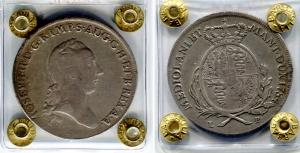 obverse: Milano. Giuseppe II. Scudo da 6 Lire 1784. Ag. MB/BB. R. Sigillata.