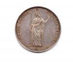 reverse: Governo Provvisorio di Lombardia. Lire 5 Italiane 1848. AG. Splendida conservazione.