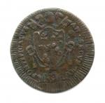 obverse: ROMA. Pio VII. 1800-1823. 1/2 Baiocco1802. II Tipo. Cu. qBB. NC.