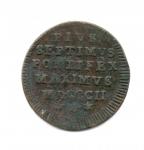 reverse: ROMA. Pio VII. 1800-1823. 1/2 Baiocco1802. II Tipo. Cu. qBB. NC.