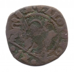 obverse: VENEZIA. Alvise Contarini. 1676-1684. 1 Soldo. Cu. MB.