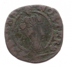 reverse: VENEZIA. Alvise Contarini. 1676-1684. 1 Soldo. Cu. MB.