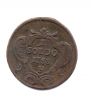 reverse: GORIZIA. 1 Soldo 1788 F. Cu. BB+. NC.
