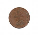 reverse: Regno di Sardegna. Carlo Alberto. 5 Centesimi del 1842. Torino. CU. MB/qBB.