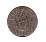 reverse: Regno di Sardegna. Carlo Alberto. 5 Lire 1849. Genova. AG. Colpi al bordo. Discreta.