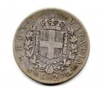 reverse: Regno d'Italia. Vittorio Emanuele 2° (1861-1878). Lire 2 del 1863. Napoli. Stemma. Ag. Quasi discreta.