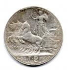 reverse: ITALIA. Regno d'Italia. LIRE 2 del 1910. Quadriga Veloce. qBB. Rara.