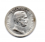 obverse: Regno d'Italia. Vittorio Emanuele 3° (1900-1943). 2 lire 1916