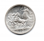 reverse: Regno d'Italia. Vittorio Emanuele 3° (1900-1943). 2 lire 1916