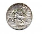 """reverse: Regno d'Italia. Vittorio Emanuele 3° (1900-1943). Lire 1 del 1917 """"quadriga briosa"""". Ag. Ottima conservazione!"""