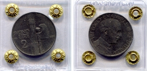 obverse: Regno d'Italia. Vittorio Emanuele 3° (1900-1943). Lire 2 1926
