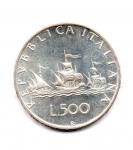 reverse: Italia. Lire 500 del 1970.