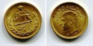 obverse: IRAN. 1/2 pahlavi 1338 (1959). Au gold (4,05 gr.). SPL. NC