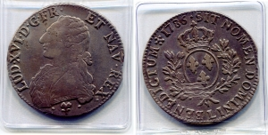 obverse: FRANCIA. Luigi XVI. 1 Ecu del 1786. Ag. Grd. 356. qBB. NC. Piastra grande e molto affascinante!