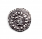 obverse: Mysia. Pergamon (circa 166-67 BC). Struck 123-104 BC. AR Cistophorus (25 mm. - 11,95 gr.). D.\: Cista Mystica from which snake coils, around, ivy wreath with fruits. R.\: Two snakes coiled around a bow case, between the snake heads, monogram of ME, to left, monogram of ΠΕΡΓ, to right, staff of Asklepios. Kleiner, Hoard 18. BB. NC.