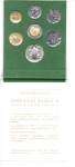 obverse: Vaticano. Folder Ufficiale del 1989 con 7 monete FDC (di cui una in argento). (Val. Cat.: 30€)