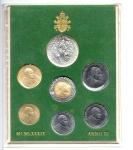 reverse: Vaticano. Folder Ufficiale del 1989 con 7 monete FDC (di cui una in argento). (Val. Cat.: 30€)