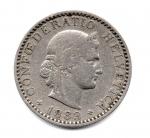 obverse: SVIZZERA. 20 C. 1883. Discreta.
