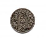 reverse: SVIZZERA. 5 C. 1893. Discreta.