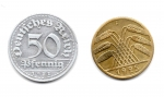obverse: GERMANIA. Lotto 02 monete diverse. Anni  20. Vedi foto per dettagli.