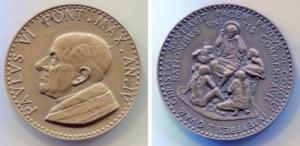 obverse: PAOLO VI. ANNO IV. BU (45,5 mm). Splendida conservazione.