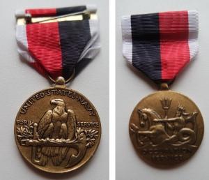obverse: MEDAGLIE MILITARI. USA. Navy. For occupation service. Vedi foto per conservazione e dettagli.