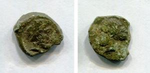 obverse: Sicilia. ENTELLA (410 a.C.). AE Tetras (3,75 gr. - 16-18 mm.). SNG ANS 1324. MB. R.
