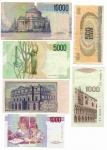 """R/ LOT. LIRE 10.000 del 1988 """"Volta"""" - LIRE 5.000 del 1996 """"Bellini"""" + LIRE 1.000 del 1973 """"Verdi"""" + LIRE 1.000 del 1993 """"Montessori"""" + LIRE. 1000 del 1988 """"Marco Polo"""" + LIRE 500 del 1970 """"Aretusa"""". Circolate, varie conservazioni. Vedi foto per tutti i dettagli."""