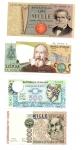 D/ ITALIA. Lotto 04 banconote tutte FDS. Vedi foto per dettagli.