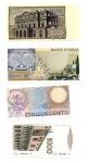 R/ ITALIA. Lotto 04 banconote tutte FDS. Vedi foto per dettagli.