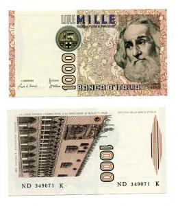 """D/ ITALIA. LIRE 1000. """"Marco Polo"""". 1982. FDS."""