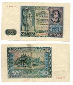 obverse: POLONIA. 50 Zlotych. 1941. Vedi foto per conservazione e dettagli!