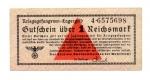 obverse: Germania. WWII, 1 Reichmark - Prigionieri di Guerra, lager. FDS. Non Comune.