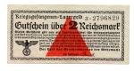 obverse: Germania. WWII, 2 Reichsmark - Prigionieri di Guerra, lager. FDS. Non Comune.
