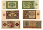 obverse: JUGOSLAVIA: Lotto completo di 07 banconote. 5.000 Kuna (1943), 1.000 Kuna (1941), 1.000 Kuna (1943), 500 Kuna (1941), 100 Kuna (1941), 50 Kuna (1941), 10 Kuna (1941). Da discrete a FDS. Vedi foto per dettagli.