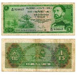 obverse: ETIOPIA. 1 Dollaro. 1961.