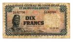 obverse: CONGO BELGA. Dix Francs - Tien francs 1956. Circolata ma rara!