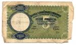 reverse: Occupazione Italiana. Albania. Cinque Franchi 1939. Molto Ciroclata ma Non Comune.