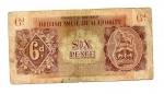 obverse: BRITISH MILITARY AUTHORITY. 6 Pence. Occupazione Inglese in Italia. Circolata ma rara!