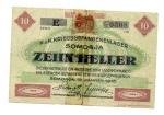 obverse: Austria/Ungheria. SOMORJA. 10 Heller 1916. ciroclata ma rara!