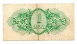 reverse: MILITARY AUTHORITY in TRIPOLITANIA. ONE LIRA 1943. Occupazione Inglese. Circolata ma rara!