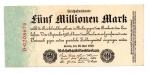 obverse: GERMANIA. Funf Millionen Mark / 5.000.000. 1923. Perfetta.