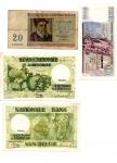 reverse: BELGIO. Lotto 04 banconote molto inetressanti per tipologia e date. Vedi foto per dettagli!