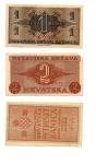 reverse: CROAZIA. Lotto 02 banconote del 1942. Tutte con ottima conservazione! Peccato solo per la 2 kune con ammanco carta ad un angolo. Vedi foto per dettagli.