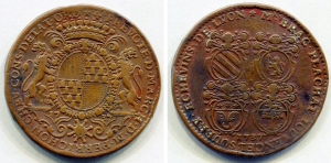 D/ Francia.Gettone / jeton.Brac Flachat Iouvencel Soubry. 1737 (1938?). Cu. (8,65 gr. – 31 mm.). BB++. Raro.