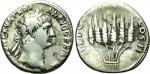 obverse: Traiano (98-117). Roma o Ephesus (zecca incerta), circa 98. AR Cistophorus (9,53 gr. – 25 mm.). D.\: IMP CAES NERVA TRAIAN AVG GERM P M, testa laureata a destra dell'imperatore. R.\: TR POT COS II, sei spighe di grano legate insieme. RIC II, 717. RPC III, 1317. qBB. R.