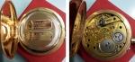 """reverse: Orologio da Tasca primi '900 """"L. fernier Et Freres A Besancon"""", in oro AU (71,60 gr. – 49 mm.). Meccanico (15 rubini), funzionante, cassa al retro lavorata. Davvero molto affascinante."""
